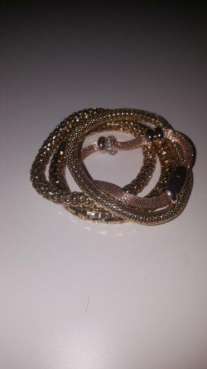 4er Set goldene Armbänder