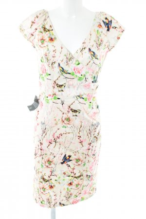 4F Cocktail Dress flower pattern casual look
