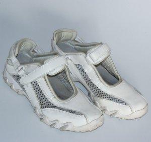 5,5 38,5 ● ALLROUNDER by MEPHISTO ● Leder Sneaker Schuhe Komfort ● Weiss ~ SALE-FINALE