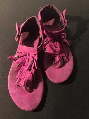 H&M Sandales à lanière violet