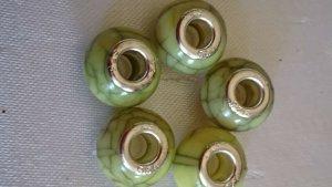 Bedel zilver-olijfgroen