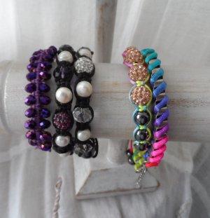 5 edle Armbänder davon 3 Shamballa Armbänder  NEU