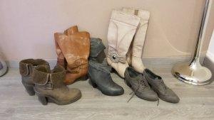 5 Paar Schuhe/Stiefel/Stiefeletten