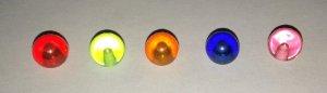 5 Piercingkugel Kunststoff, bunt