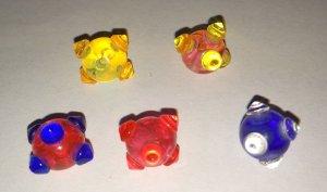 5 Piercingkugeln bunt (verschiedene Farben)
