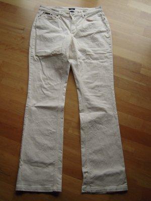 5 Pocket Hose cremeweiss Bootcut Größe 32/34