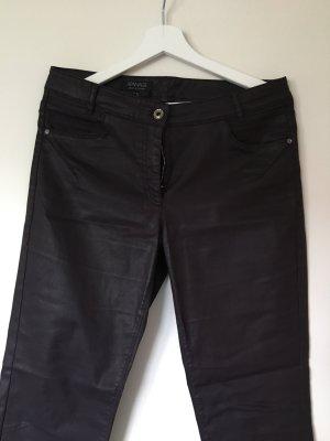 Apanage Pantalone cinque tasche marrone-viola Cotone