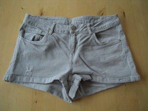 5-Pocket Jeansshorts grau