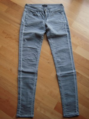 5 Pocket Stretch-Jeans grau