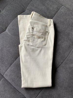 Promod Pantalone cinque tasche crema Cotone