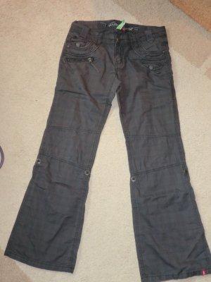 Esprit Pantalon cinq poches gris coton