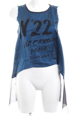 5 Preview ärmellose Bluse Schriftzug gedruckt Casual-Look