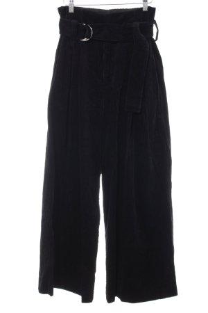 5 Preview Pantalon en velours côtelé bleu foncé-noir style mode des rues