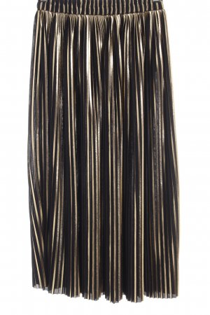5 Preview Plaid Skirt black-gold-colored striped pattern elegant