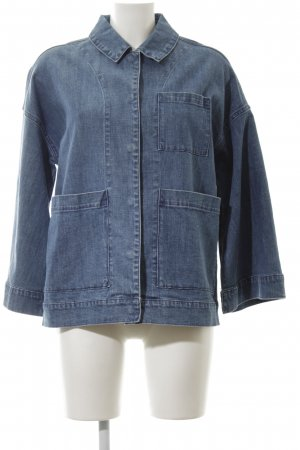 5 Preview Denim Jacket steel blue printed lettering casual look