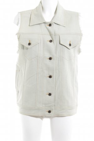 5 Preview Denim Vest pale green themed print casual look