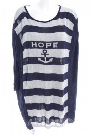 5 Preview Jersey Dress dark blue-light grey striped pattern casual look