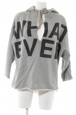 5 Preview Hooded Sweater grey printed lettering athletic style