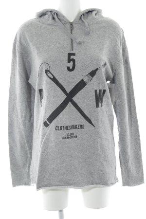 5 Preview Sudadera con capucha gris-negro moteado artículo unisex