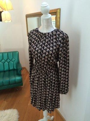 5 Preview Kleid schwarz rosé Animalprint