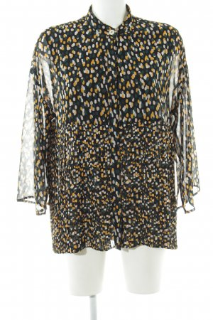 5 Preview Long Sleeve Blouse spots-of-color pattern casual look