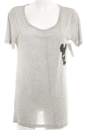 5 Preview Lang shirt lichtgrijs gestippeld casual uitstraling