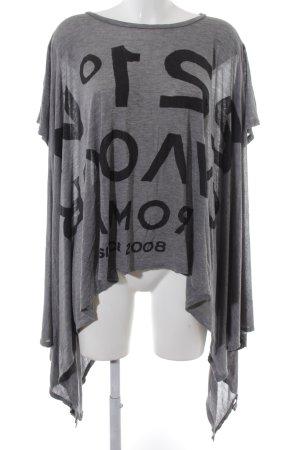 5 Preview Oversized Shirt grau-schwarz meliert Casual-Look