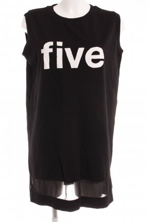 5 Preview Oversized Shirt black-white printed lettering athletic style