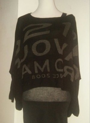 5 Preview Sweater zwart-grijs Viscose
