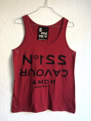 5 PREVIEW rotes Tanktop mit Front-Print