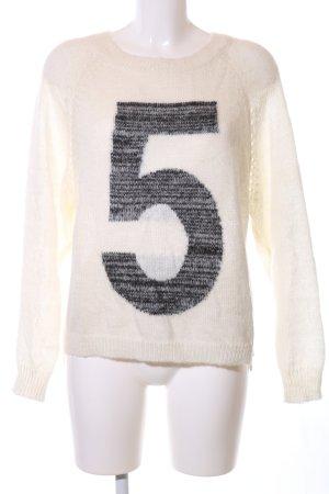 5 Preview Crewneck Sweater cream-black flecked casual look