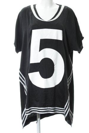 5 Preview T-shirt jurk zwart atletische stijl