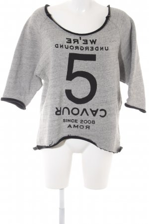 5 Preview Sweatshirt schwarz-hellgrau Schriftzug gedruckt Casual-Look