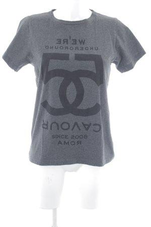 5 Preview T-Shirt grau Schriftzug gedruckt Casual-Look