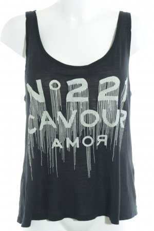 5 Preview Tank Top black-cream printed lettering skater style