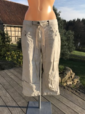 Blue Motion Cargo Pants oatmeal-silver-colored cotton