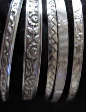 5 süße SILBERARMREIFEN (835 Silber) mit wunderschönen Ornamenten !!!!