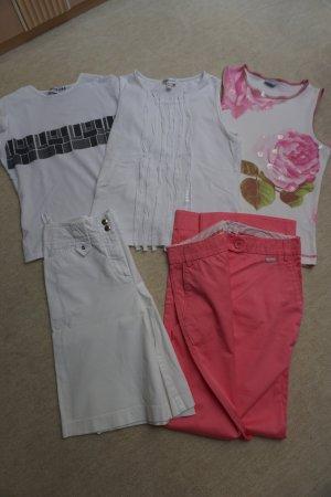 5 Teile Sommerset Gr. 34 Hosen, Shirts von Mango, Oasis u. Morgan