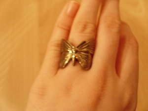 5-teiliges Ringset in Gold und Bunt