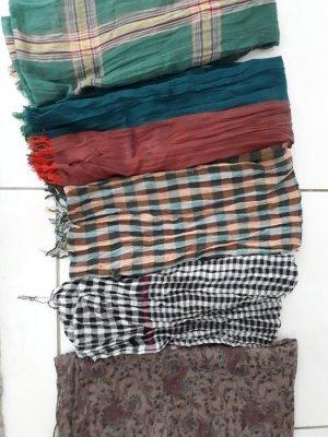 5 Tücher, verschiedene Muster