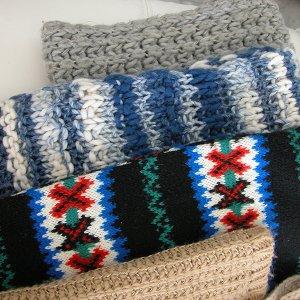 5 Winterschals im Paket, Kleiderpaket Damenschals, u.a. Tally Weijl