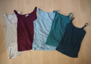 5 x Tops cami camisole Trägertop Unterhemd Tanktop