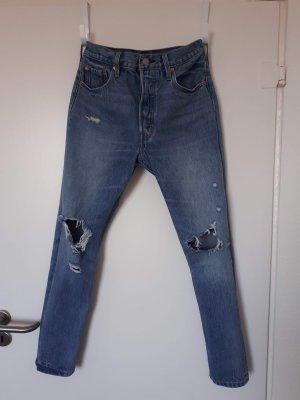 Levi's Jeans boyfriend bleu azur