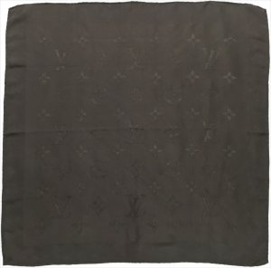 Louis Vuitton Foulard brun foncé soie