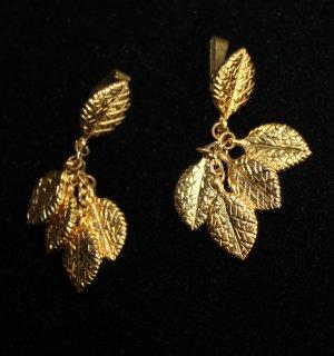 50er Jahre Blätter Ohrclips signiert