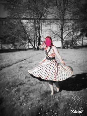 Abito a sottoveste rosa antico