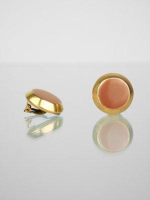 Clip d'oreille doré-brun matériel synthétique