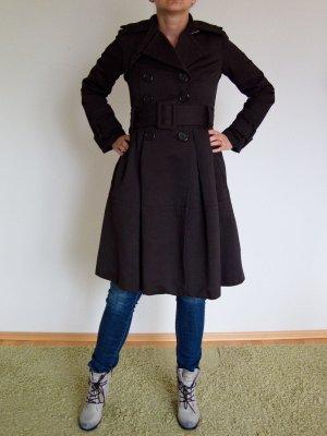 Zara Trenchcoat brun noir-brun nylon