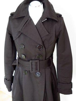 50er Mantel Kurzmantel Trenchcoat Übergangsmantel von ZARA in dunkelbraun Gr. S