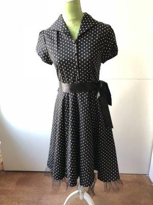 Petticoat Dress black-white cotton